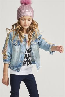 Sequin Denim Jacket (3-16yrs)