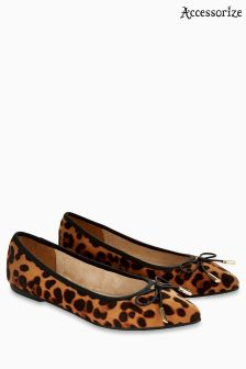 Accessorize Leopard Harper Elasticated Point Shoe
