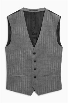 Signature Stripe Slim Fit Suit: Waistcoat