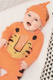 Tiger Sleepsuit And Hat (0mths-2yrs)