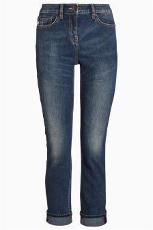 Dark Blue Cigarette Jeans