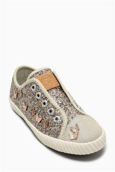 Laceless Glitter Pumps (Older Girls)