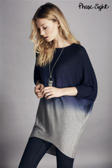 Phase Eight Blue Dip Dye Becca Batwing Knit