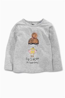 Big Sister Superhero T-Shirt (9mths-6yrs)