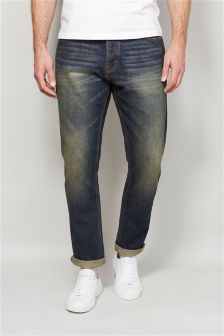Distressed Jeans With Stretch