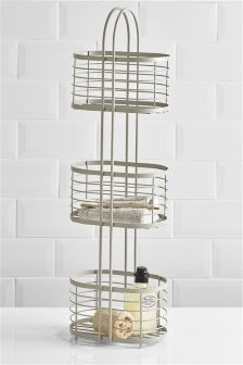 Grey 3 Tier Storage Caddy