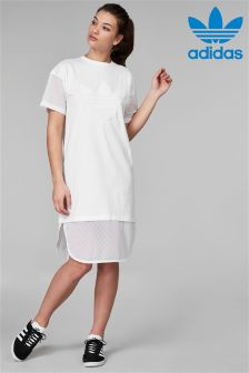 adidas Originals White CLRDO Tee Dress