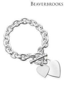 Beaverbrooks Silver Heart Bracelet