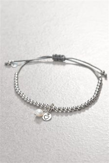 Charm Detail Beady Pully Bracelet