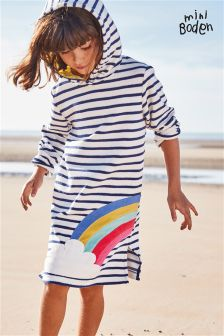 Boden Blue Towelling Beach Dress