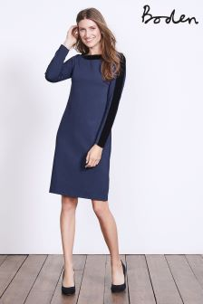 Boden Carbon Blue Ingrid Ponte Dress