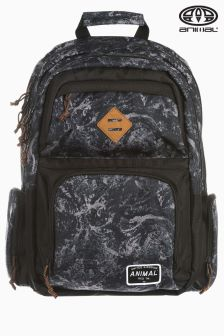 Animal Spray Black Backpack