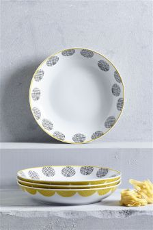 Set Of 4 Pendle Pasta Bowls