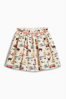 Multi Transport Print Flippy Skirt (3-16yrs)