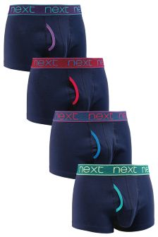Bright Waistband Hipsters Four Pack