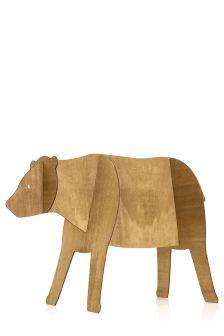 Wooden 3D Bear