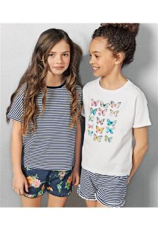 Butterfly Short Pyjamas Two Pack (3-16yrs)