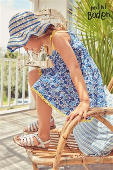 Boden Blue Jersey Sundress