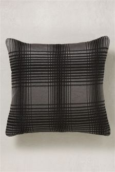 Hampton Chenille Check Cushion