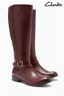 Clarks Mahogany Knee High Boot