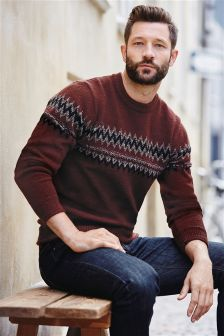 Fairisle Pattern Crew Neck