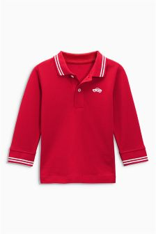 Long Sleeve Essential Poloshirt (3mths-6yrs)