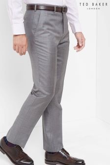 Ted Baker Grey Sharkskin Suit Trouser