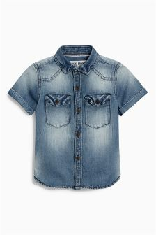 Denim Short Sleeve Shirt (3mths-6yrs)