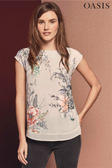 Oasis Grey Enchanted Forest Tee