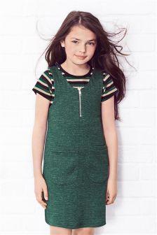 Pinafore Dress And Top Set (3-16yrs)