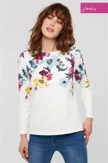 Joules Cream Jersey Harbour Print Top
