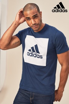 adidas Navy Box Logo T-Shirt