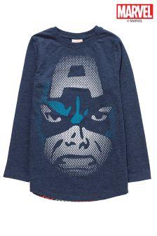 Captain America Long Sleeve Top (3-16yrs)
