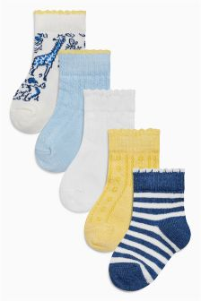 Socks Five Pack (Younger Girls)