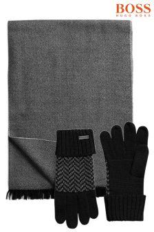 Boss Orange Scarf And Gloves Gift Set