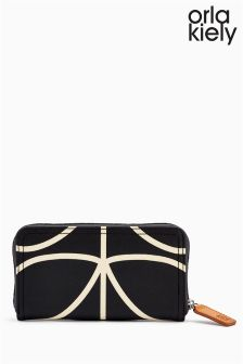Orla Kiely Black/White Multi Stem Purse