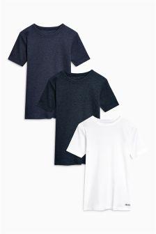 Ribbed T-Shirts Three Pack (1.5-16yrs)