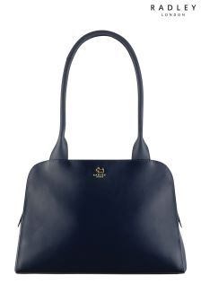 Radley Ink Navy Millbank Medium Ziptop Tote Bag