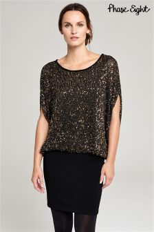 Phase Eight Black Jane Sequin Dress