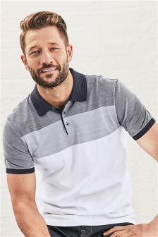 Jacquard Stripe Premium Polo