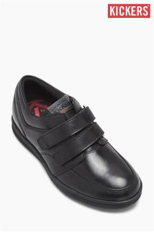 Kickers® Troiko Black Strap Shoe