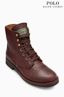 Polo Ralph Lauren Tan Enville Lace Boot