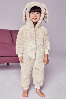 Bunny Fleece All-In-One (9mths-8yrs)