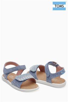 Toms Blue Slub Chambray Strap Sandal
