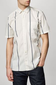 Short Sleeve Wide Stripe Shirt