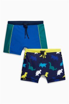 Dinosaur Swim Shorts Two Pack (3mths-6yrs)