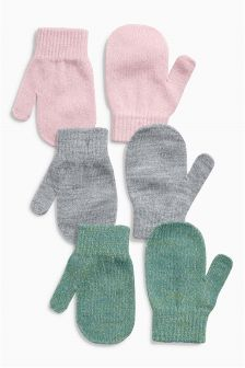 Mittens Three Pack (Younger Girls)