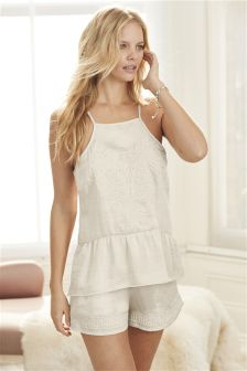 Bridal Satin Pyjama Short Set