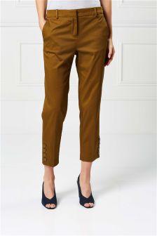 Brushed Cotton Capri Trousers