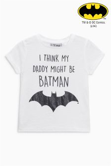 Batman® Slogan T-Shirt (3mths-6yrs)